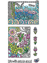 "Color Me Life Clear Stamp Set 3"" x 4"""