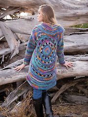 ANNIE'S SIGNATURE DESIGNS: Harbor Lights Circle Jacket Crochet Pattern