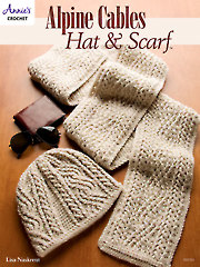 Alpine Cables Hat & Scarf Crochet Pattern - Electronic Download A885254