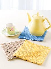 Trio of Pot Holders Crochet Kit