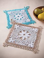 Fleur-De-Lis Pot Holder Crochet Kit