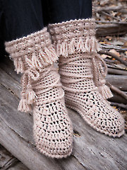 ANNIE'S SIGNATURE DESIGNS: Mukluk Crochet Booties