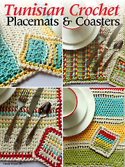 Tunisian Crochet Placemats & Coasters
