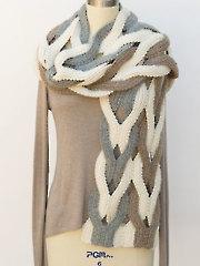 Japanese Weave Wrap Knit Pattern