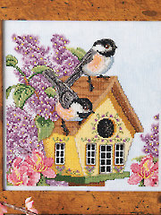 Spring Chickadees Counted Cross Stitch