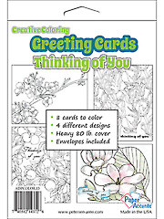 Creative Coloring Thinking of You Greeting Cards & Envelopes