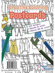 Creative Coloring Post Card Pad