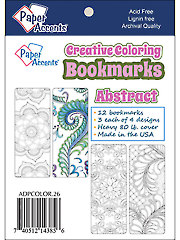 Creative Coloring Abstract Bookmarks
