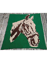 Corner-to-Corner Horse Afghan Crochet Pattern - Electronic Download