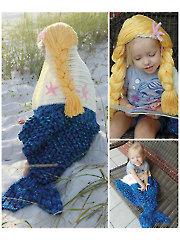 Mermaid Hooded Blanket Crochet Pattern