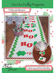 Ho Ho Holly Embroidery Projects Pattern with Embroidery CD