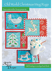 Old World Christmas Mug Rugs Pattern with Embroidery CD