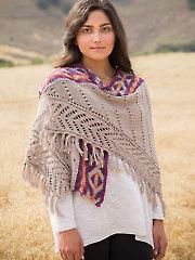 Largo Canyon Shawl Knit Pattern - Electronic Download