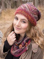 ANNIE'S SIGNATURE DESIGNS: Chinle Hat & Cowl Knit Pattern