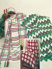 Crocheted Christmas Afghans