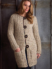 Casual Jacket Knit Pattern - Electronic Download AK01000