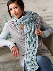 Bobbles Beyond Compare Scarf Knit Pattern
