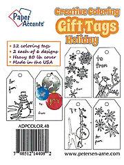 Creative Coloring Holiday Gift Tags