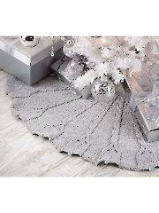 Silver Bells Tree Skirt Knit Pattern