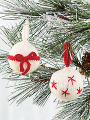 Redwork Ornaments Knit Pattern - Electronic Download