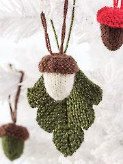 ANNIE'S SIGNATURE DESIGNS: Acorns & Oak Leaves Knit Pattern
