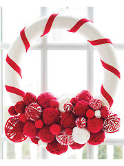Yarn Ball Wreath Craft Pattern - Electronic Download