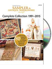 Sampler & Antique Needlework Quarterly 1991-2015 DVD