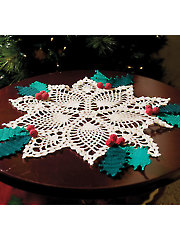 Pineapple Holly Doily - Electronic Download