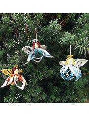 Sweet Angel Girl Ornament Kit - 3/pkg.