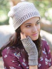 Quilted Lattice Hat & Mitts Knit Pattern