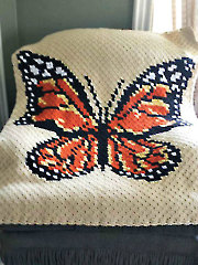 Corner-to-Corner Butterfly Afghan