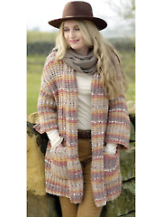 4603: Ladies Long Jacket Knit Pattern