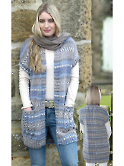 4607: Ladies Waistcoats Knit Pattern