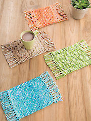 ANNIE'S SIGNATURE DESIGNS: Mug Rugs Knit Pattern