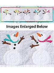 Dancing Snowman Wall Hanging Pattern