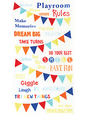 "Playroom Rules Panel - 24"" x 44"""