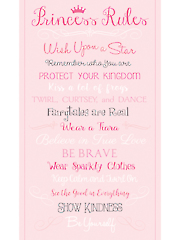 "Princess Rules Panel - 24"" x 44"""