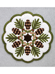Pine Cones Table Topper Pattern