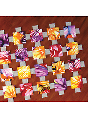 Magic Floating Squares Table Runner Pattern