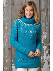 Lace Yoke Pullover - Electronic Download