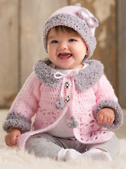 ANNIE'S SIGNATURE DESIGN: Modern Baby Sweater Set - Electronic Download A886242
