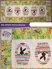 Bunnies & Baskets Selvage Easter Table Runner Pattern