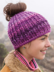 ANNIE'S SIGNATURE DESIGN: Messy Bun Crochet Hat