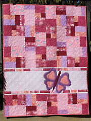 Double Jumble Butterfly Quilt Pattern