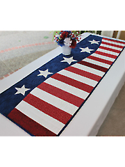 Patriotic Wave Table Runner Pattern