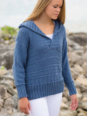 ANNIE'S SIGNATURE DESIGNS: Nordkapp Hoodie Knit Pattern