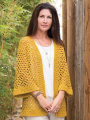 ANNIE'S SIGNATURE DESIGN: Cuyama Cardi Crochet Pattern