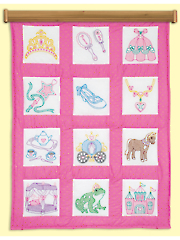 "Princess 9"" Prestamped Quilt Blocks"