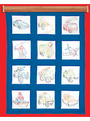 "Rescue Vehicles 9"" Prestamped Quilt Blocks"