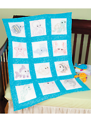 "Under the Sea 9"" Prestamped Quilt Blocks"